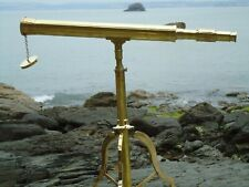 Brass Table Top Telescope On Stand Antique Nautical - Film Prop-Shop Display