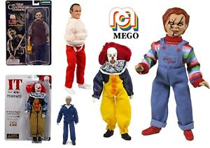 "Mego Horror 8"" Collectable Action Figures  Leatherface Chucky Pennywise Hannibal"