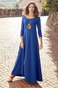SOFT SURROUNDINGS NWT $110 Pirouette Maxi Dress in Sapphire Size Small