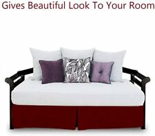 Christmas mega sale Bed Skirt daybed pleated 100% Certified quality Burgundy
