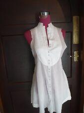 Beautiful All Saints Nadette Gilet Shirt White Size 10 Excellent Condition