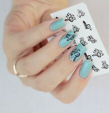 Nail Water Decals Transfer Sticker Musical Notes Pattern XF1358