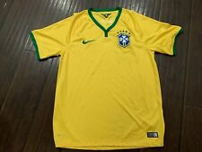 RARE🔥 Nike Dri Fit Brazil Gold Soccer Jersey Sz M Medium Made in Brazil Men's