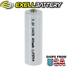3.2V 400mAh Li-FePO4 14430 Rechargeable Battery 4/5AA LifePO4, IFR 14430P