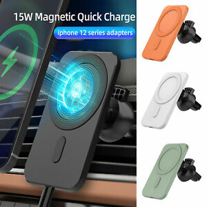15W Car Magnetic Wireless Chargers Mount Mag safe for iPhone 12 Pro Max