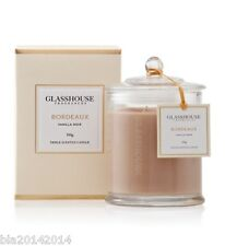 GLASSHOUSE CANDLE 350g - BORDEAUX - VANILLA NOIR - Fast Australian Post