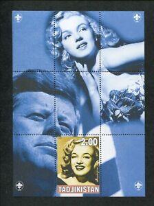 2000 Tajikistan Commémorative Souvenir Tampon Feuille - Marilyn Monroe & Jfk