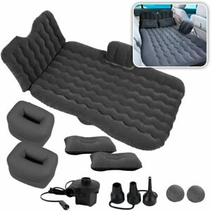 Inflatable Travel Car Camping Mattress Bed Back Seat Sleep Rest 2 Pillow Pump