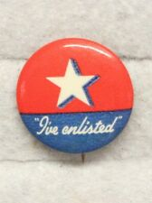 """WWII era Home Front """"I've Enlisted"""" Button Pin"""
