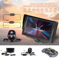Drahtlose Auto Rückfahrkamera RCA Video 2.4G Monitor Backup Cam Rückansicht Kit