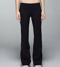 "Lululemon Full Length Black Yoga Groove Pants, 6. (28"" X 30"" Inseam)"