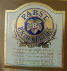 VINTAGE AMERICAN BEER LABEL - PABST BREWERY, EXTRA LIGHT BEER 12 FL OZ #2