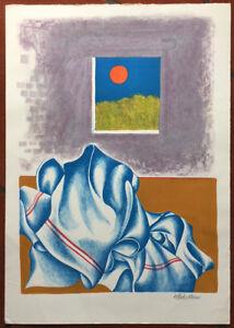 Sirio Midollini litografia a colori La Finestra 50x35 firmata