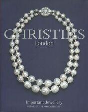 CHRISTIE'S LONDON JEWELS Tiaras Pearls Boucheron Cartier Grima Rubel Catalog 04