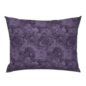 Purpe Marble Gemstone Mineral Marbled Purple Violet Pillow Sham by Roostery