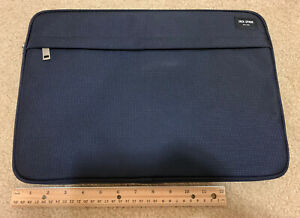 JACK SPADE LUGGAGE NYLON Textured LAPTOP SLEEVE FOR Laptops Up To 15 Inch - NAVY