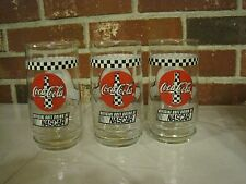 3 COCA-COLA NASCAR #20 TONY STEWART DRINKING GLASSES 16 OZ.