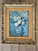 Vintage Cezanne Dahlias Framed Painting Print