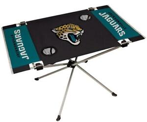 Jacksonville Jaguars Endzone Tailgate Table [NEW] NFL Portable Chair Fold Party
