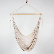 New Hanging HAMMOCK CHAIR Relax in Luxury and Comfort Shabby Cream Beaded HAVANA