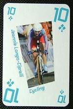 1 x playing card London 2012 Olympic Legends Jeannie Longo-Ciprelli 10C
