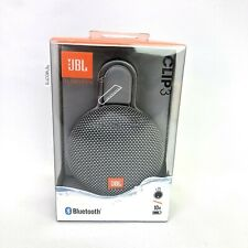Brand New JBL CLIP 3 Portable Waterproof Bluetooth Speakers Grey 100% Authentic