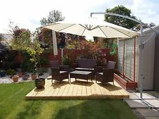 "Budget 2.4m x 3.6m garden decking kit ""CHECK POSTCODES FOR FREE DELIVERY"""