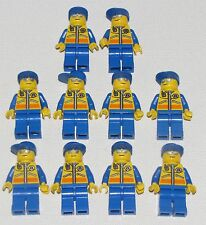 LEGO LOT OF 10 COAST GUARD MINIFIGURES WITH BLUE HAT CITY FIGURES