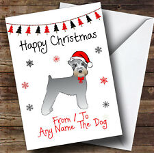 Schnauzer From Or To The Dog Pet Personalised Christmas Card