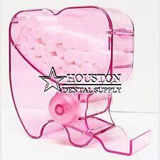Dental Roll Style Cotton Roll Dispenser Holder Organizer Clear Transparent PINK