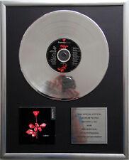 """Depeche Mode - Violater CD Cover + 12"""" Vinyl goldene / platin Schallplatte"""