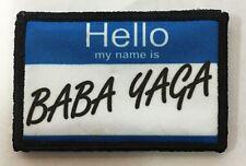John Wick Baba Yaga Name Tag Morale Patch Tactical Military Army FUNNY Flag USA