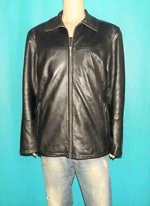 veste trois quart MAC DOUGLAS cuir agneau noir taille 54 ou XL