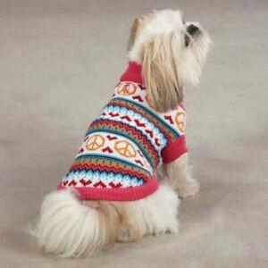 CUTE PEACE LOVIN' DOG SWEATER - XS