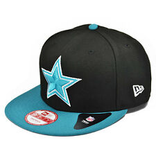 Dallas Cowboys CUSTOM Black/Teal SNAPBACK 9Fifty New Era NFL Hat =Med/Large