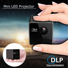 Mini Pocket Projector Android DLP WiFi Airplay Bluetooth HD 1080P Home Cinema SD