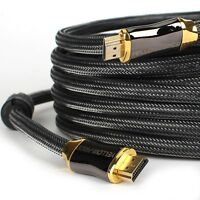 US LOT 3ft 6ft 10ft 15ft 25ft 30ft 50ft Braided HDMI 2.0b Cable(4K@120Hz 18Gbps)