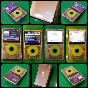 Sublime Green 256GB iPod Classic Video 5th Gen Transparent MA146LL