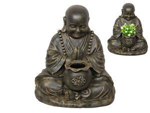 1pce 53cm Happy Garden Buddha Pot Holder Antique Colour Perfect for Plants