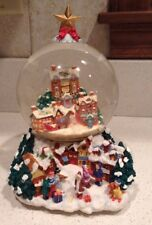 """I'll Be Home for Christmas Snow Globe 8"""" Winter Village Scene Beautiful Detail"""