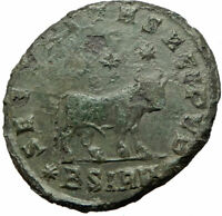 JULIAN II Apostate 361AD HUGE Ancient Roman Coin Bull Astrological Taurus i75831