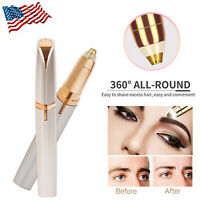 New Women's Brows Painless Trimmer Electric Face Eyebrow Hair Remover - 2 Types
