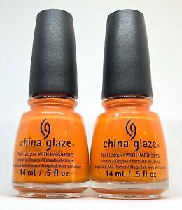 China Glaze Nail Polish STOKED TO BE SOAKED 1303 Bright Orange Cream Lacquer
