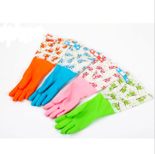 Kitchen Cleaning Latex Gloves Household Durable Waterproof Dishwashing Glove New