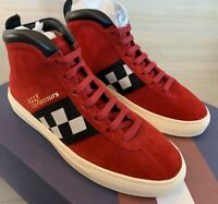 $650 Bally Vita Parcours 37 Red Suede High Tops Sneakers size US 8