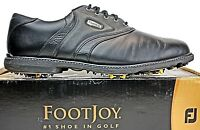 FootJoy Mens Golf Shoes size 11.5 M FJ Superlites Black Leather PB