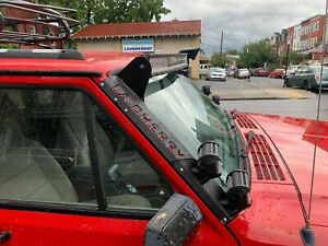 Windshield Pillar Mount Brackets LED Light Bar FITS Jeep Cherokee XJ Comanche MJ