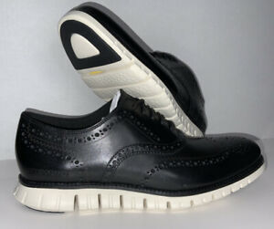 Cole Haan Zerogrand Wingtip Oxford Shoe for Men, Size 10 - Black/White C20720