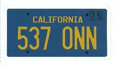 STARSKY AND HUTCH LICENSE PLATE  Sticker Decal