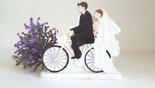 Bride&Groom on Bike Bicycle Resin Wedding Cake Topper Wedding Decoration